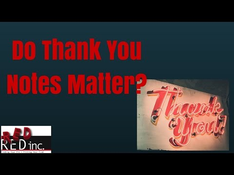 Entry Level and Senior Level Job Search Tips: Do Thank You Notes Matter?