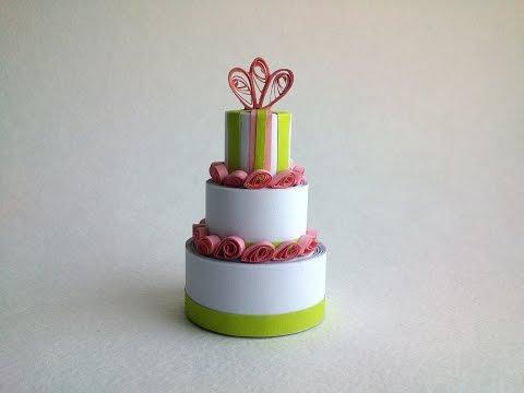 Quilling Tutorial 3D: Quilling miniature Cake 3D, DIY Quilling 3D Designs