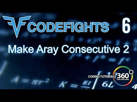Make Array Consecutive 2 | CodeFights Intro Algorithm JavaScript Solution and Breakdown