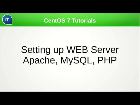 Setting up WEB Server Apache + PHP + MySQL. CentOS 7 Tutorials