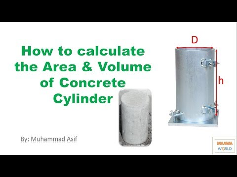 How to Calculate the Area & Volume of Concrete Cylinder Part-1 in Urdu & Hindi