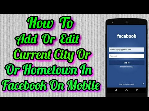 How To Add Or Change/Edit Current City Or Hometown on facebook