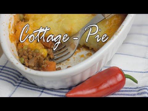 Cottage Pie, Rinderhackfleisch mit Kartoffelbrei und Käse überbacken