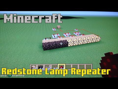How To Make A Repeating Redstone Lamp - Minecraft Tutorial