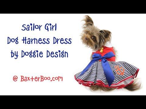 Sailor Girl Dog Harness Dress by Doggie Design
