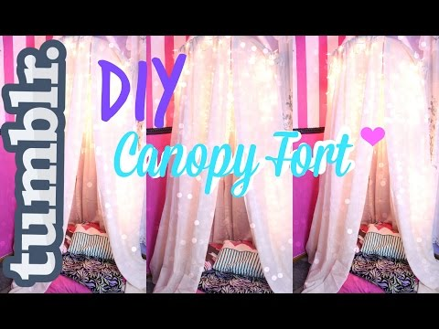 DIY Tumblr Inspired Canopy/Fort