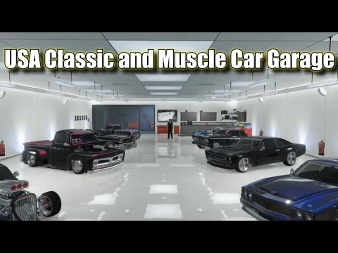 GTA 5 Online USA Classic and Muscle Car Garage (Updated with Franken Stange)