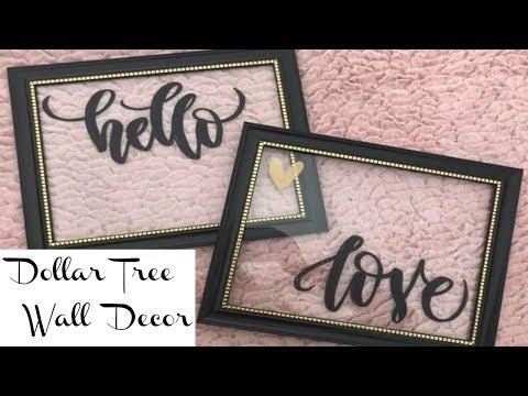Dollar Tree Wall Decor | VALENTINE'S CRAFT IDEA