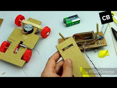 How to make a cardboard Rc car with R control