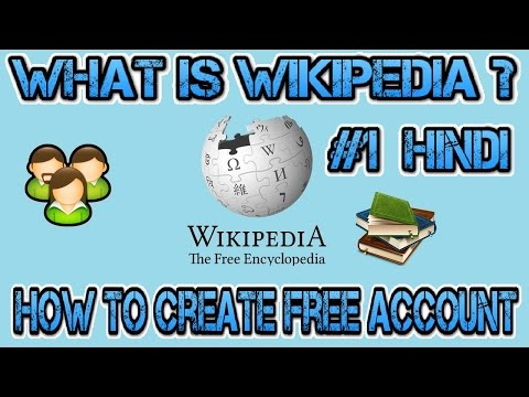 how to create wikipedia account free in hindi