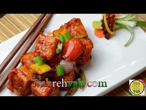 Chilli Tofu Paneer - By VahChef @ VahRehVah.com