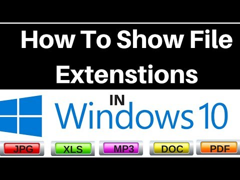 How to Show File Extensions in Windows 10