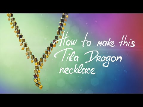 How to make this Tila Dragon Necklace | Seed Beads Design