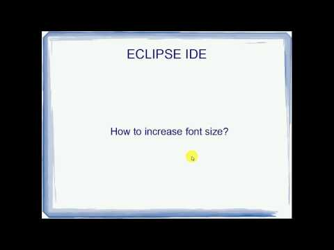How to increase Eclipse Font SIze
