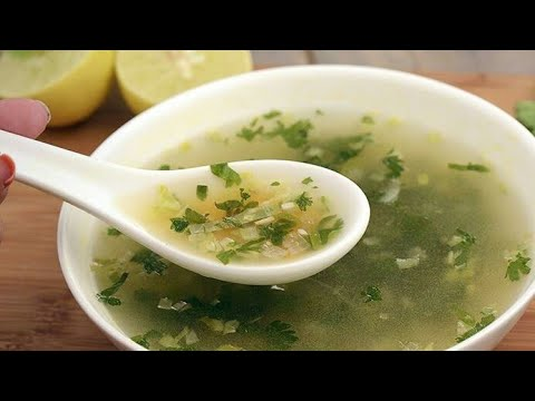 Cold & Cough Special Coriander Lemon Soup in 5 minutes (Tasty also)