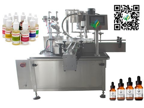 nail polish Filling And Capping Machine e juice rotary 2 nozzles filler tightening system