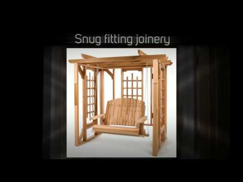All Things Cedar Pergola 4ft. Red Cedar Swing Set - P072S