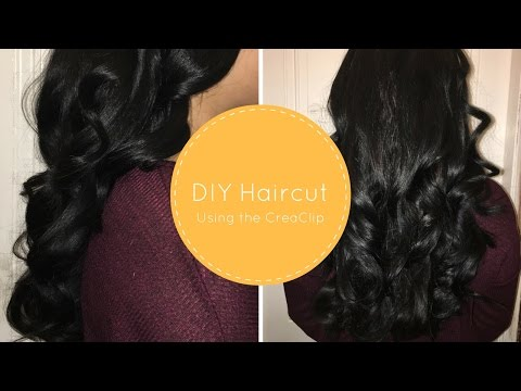 DIY haircut for long thick hair at home! | jiannajay