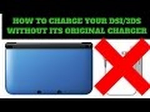 HOW TO CHARGE YOUR DSI/3DS/3DSXL/NEW3DS/NEW3DSXL WITHOUT THE ORIGINAL CHARGER!!!!