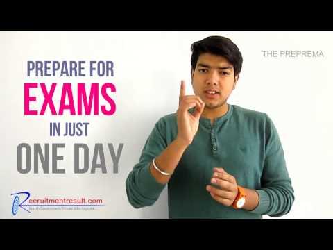 How to Prepare For Exam in One Day - यकीन ना  हो तो पूरी विडियो देखें
