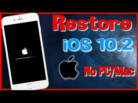 Restore iOS 10.2 without Updating | How to Remove Jailbreak iOS 10 - 10.2