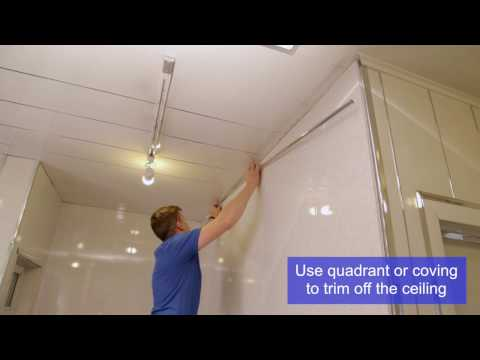 PVC Decorative Wall, Ceiling and Flooring Panel Installation Video   Omega Changing Rooms Ltd