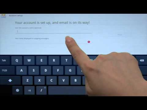 Lenovo Ideapad Tablet K1: Setting up Your Email Account