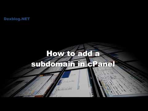 How to add a subdomain o cPanel
