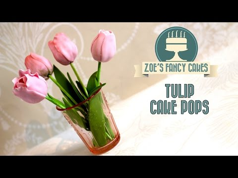 How to make tulip cake pops flower cake pop tutorial cake decorating