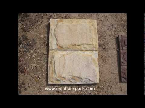 Mushroom Cut Natural Stone Tiles Factories India