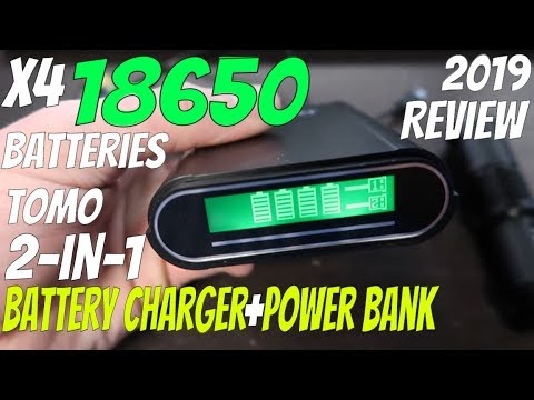 TOMO V8 4 18650 Battery Charger REVIEW Recharge 18650 Batteries VAPE Smart Charge USB Powerbank 2018
