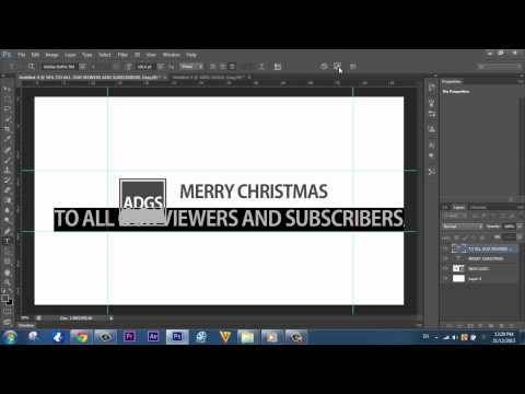 Speedart - Making Of The New Christmas Banner