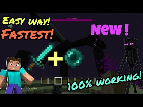 Minecraft easy way to kill ender Dragon 2017