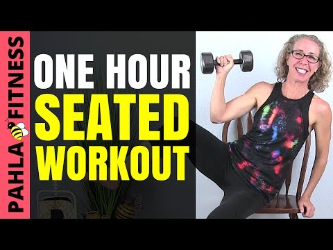 One Hour SEATED CARDIO + STRENGTH Workout | 60 Minute FULL BODY Full Length Chair Exercise Routine