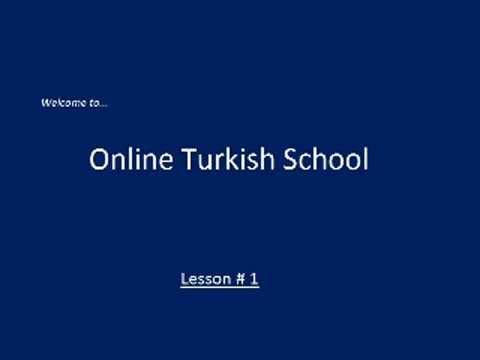 Online Turkish Lessons - Lesson # 1