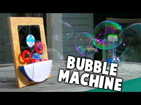 How To Make A Cheap Bubble Machine! #DIY