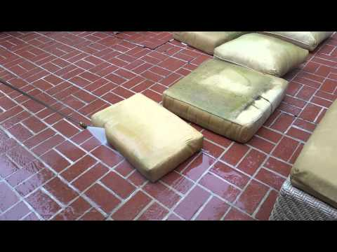 How to clean your patio cushions!