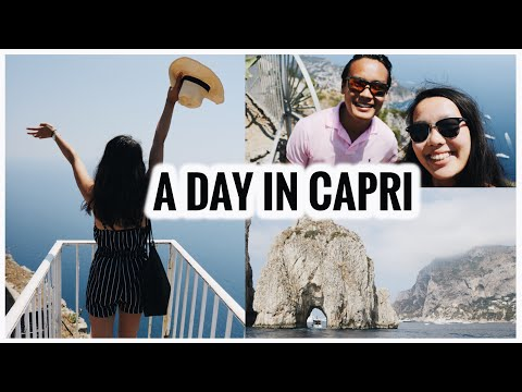 A DAY IN CAPRI! THE MOST BEAUTIFUL ISLAND | Italy Travel Vlog #4
