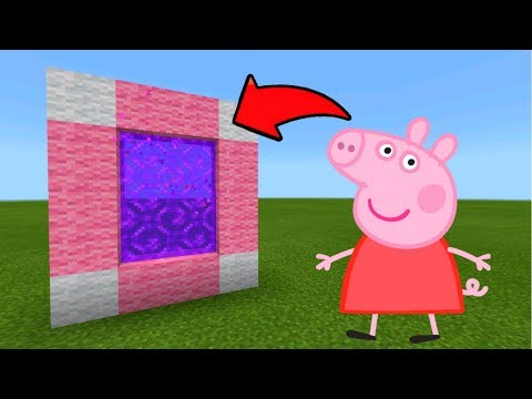 Minecraft Pe How To Make A Portal To The Peppa Pig Dimension - Mcpe Portal To Peppa Pig!!!