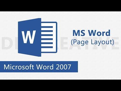 Microsoft Word Page layout tutorial (Bangla)- 2017