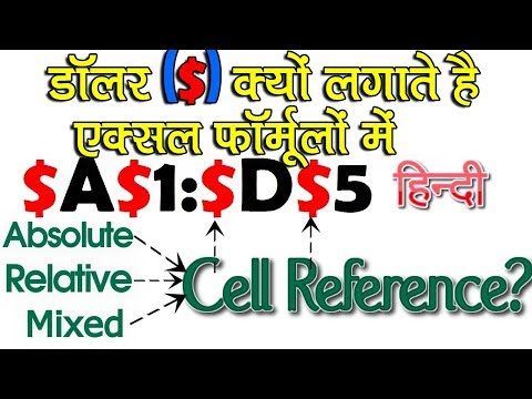 Using Dollar ($) Sign in Excel Formula│Absolute, Relative and Mixed Cell Referencing in Excel -HINDI