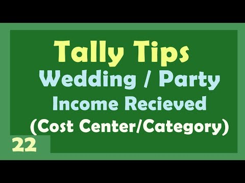 Tally Tips (Query Answer) | Wedding-Party Income from Relatives Entry in Tally ERP9
