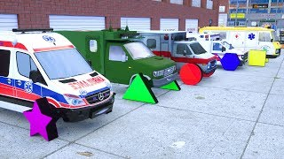 Learn Shapes Names and Ambulance Cars - Wheel City Heroes (WCH) - Sergeant Lucas New Cartoon