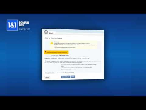 How to Setup a DNS Transfer to 1&1 MyWebsite