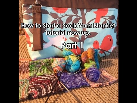 How to knit a Sock Yarn Memory Blanket No Counting - Part 1