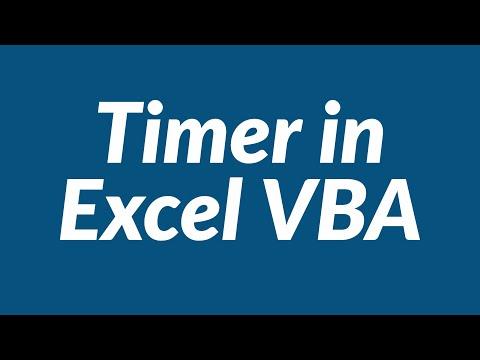 Timer in Excel