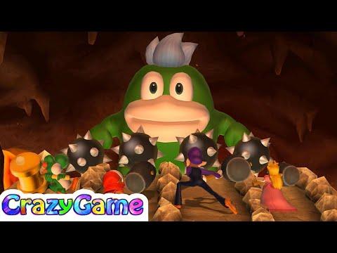 Mario Party 9 Boss Rush - Yoshi vs Shy Guy vs Waluigi vs Peach Master CPU Gameplay | CRAZYGAMINGHUB