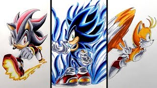 Drawing Sonic Characters - Compilation 5