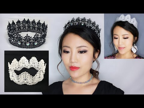 How to Make Crowns with Lace、Quick Eye Makeup for Lace Crown Styles