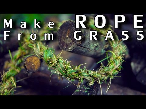 How To Make Rope From Grass [Easy Method] - NightHawkInLight